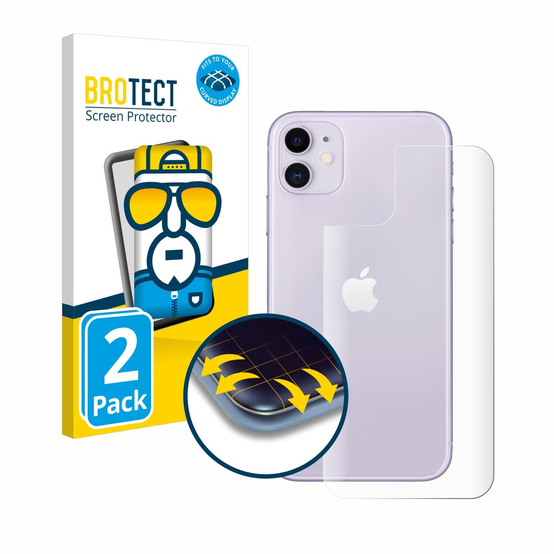 Ochranná fólie BROTECT Flex Full-Cover pro Apple iPhone 11 (Zadní strana), 2ks