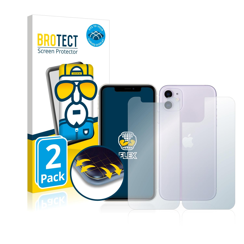 Ochranná fólie BROTECT Flex Full-Cover pro Apple iPhone 11 (Přední + Zadní strana), 2ks