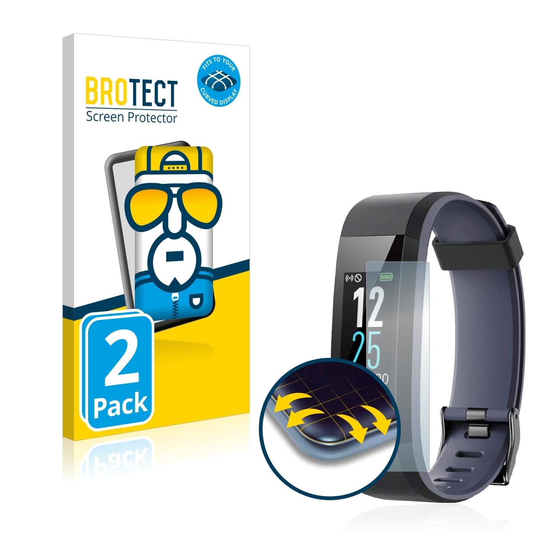 Ochranná fólie BROTECT Flex Full-Cover pro Chereeki Fitness Tracker ID115C, 2ks