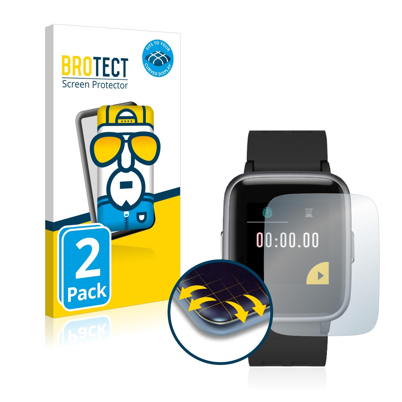 Ochranná fólie BROTECT Flex Full-Cover pro Chereeki Fitness Tracker ID205, 2ks