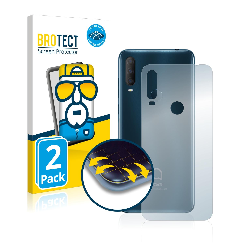 2x BROTECT Flex Full-Cover čirá ochranná fólie pro Alcatel 1S 2020 (zadní strana)