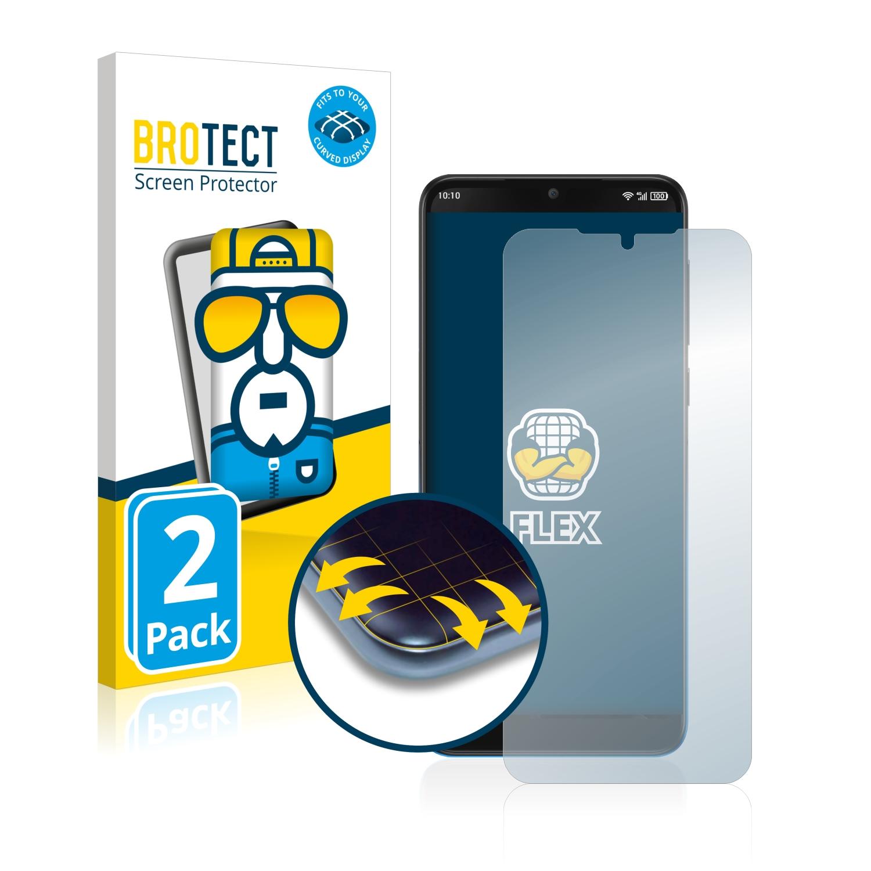 2x BROTECT Flex Full-Cover čirá ochranná fólie pro Alcatel 3 2019