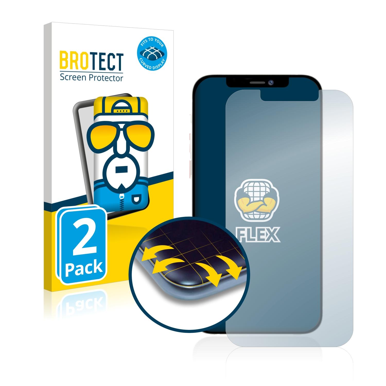 2x BROTECT Flex Full-Cover čirá ochranná fólie pro Apple iPhone 12 Pro Max