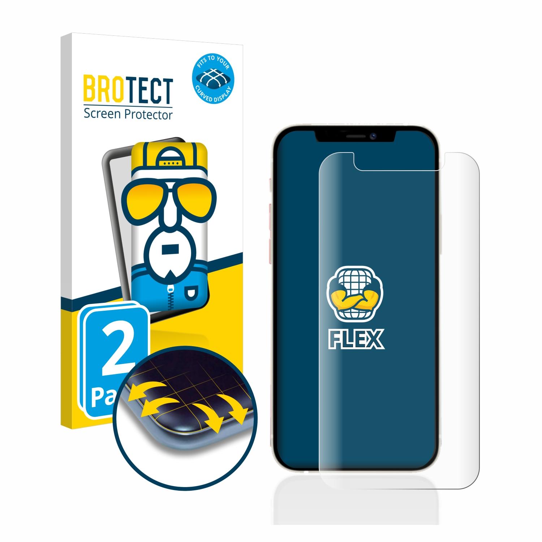 2x BROTECT Flex Full-Cover čirá ochranná fólie pro Apple iPhone 12 mini