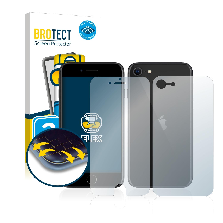 2x BROTECT Flex Full-Cover čirá ochranná fólie pro Apple iPhone SE 2 2020 (přední + zadní strana)