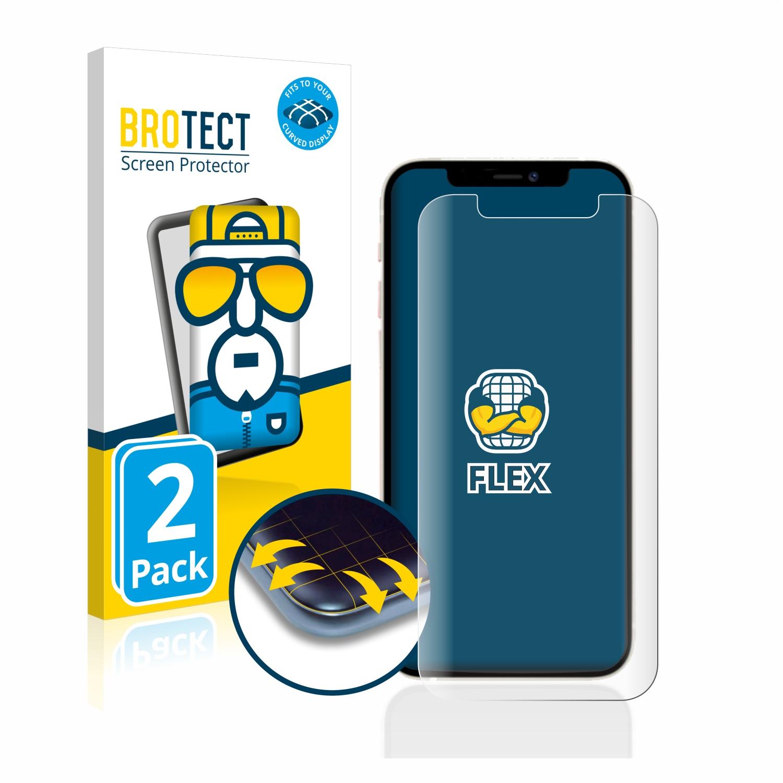 2x BROTECT Flex Full-Cover čirá ochranná fólie pro Apple iPhone 12