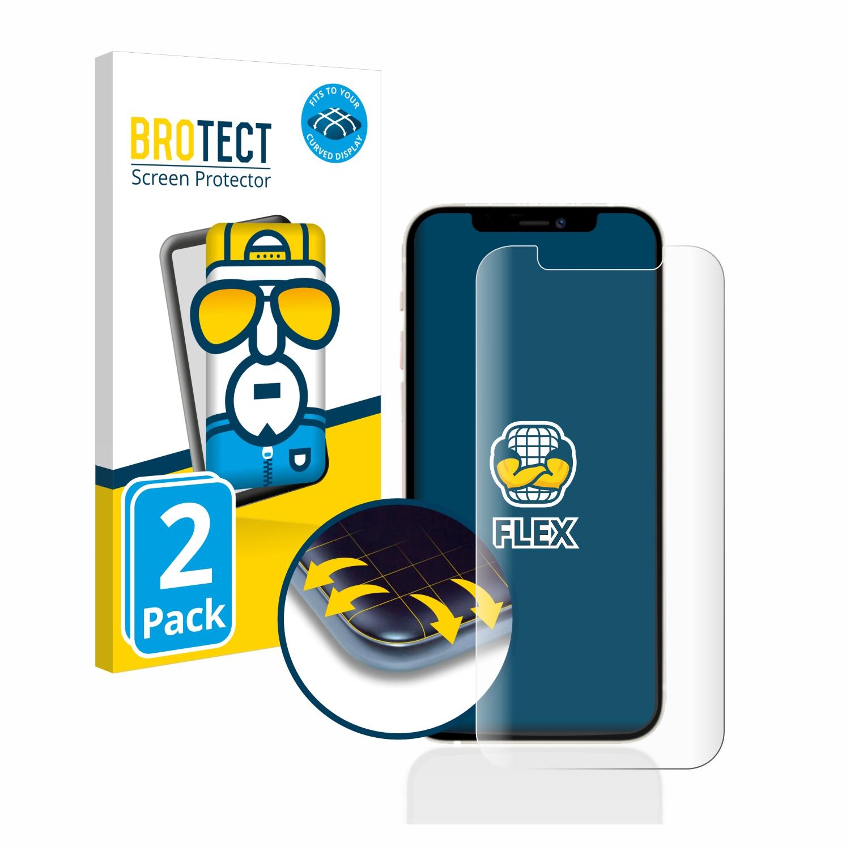 2x BROTECT Flex Full-Cover čirá ochranná fólie pro Apple iPhone 12 Pro