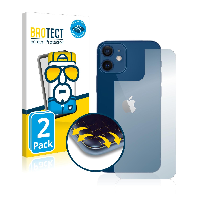 2x BROTECT Flex Full-Cover čirá ochranná fólie pro Apple iPhone 12 (zadní strana)