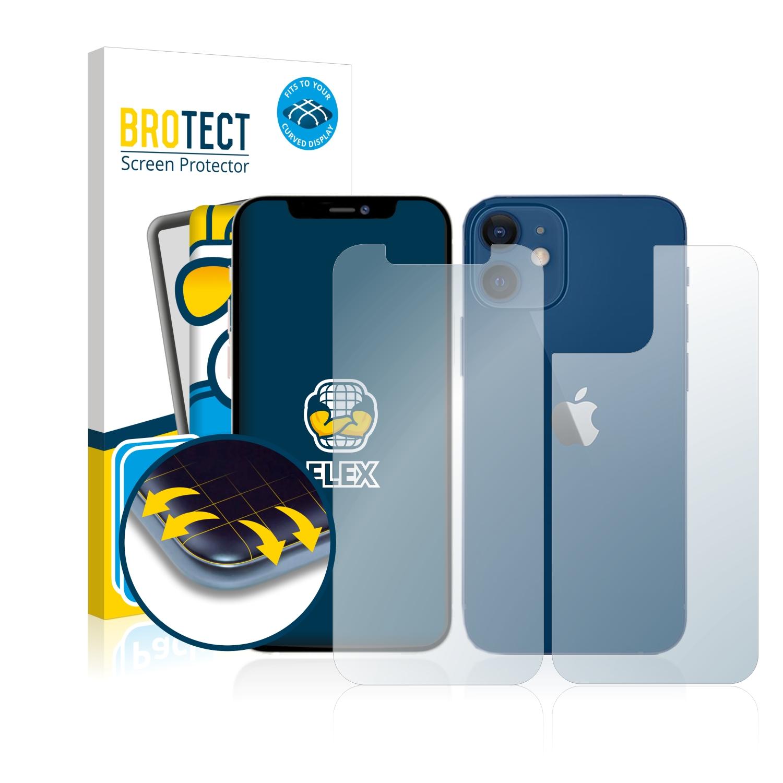 2x BROTECT Flex Full-Cover čirá ochranná fólie pro Apple iPhone 12 (přední + zadní strana)