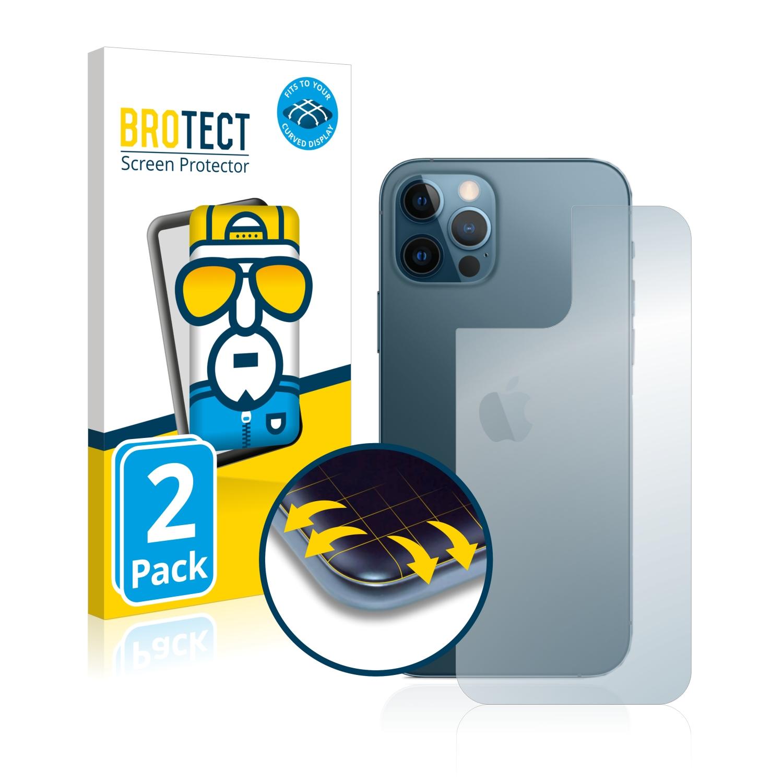 2x BROTECT Flex Full-Cover čirá ochranná fólie pro Apple iPhone 12 Pro (zadní strana)