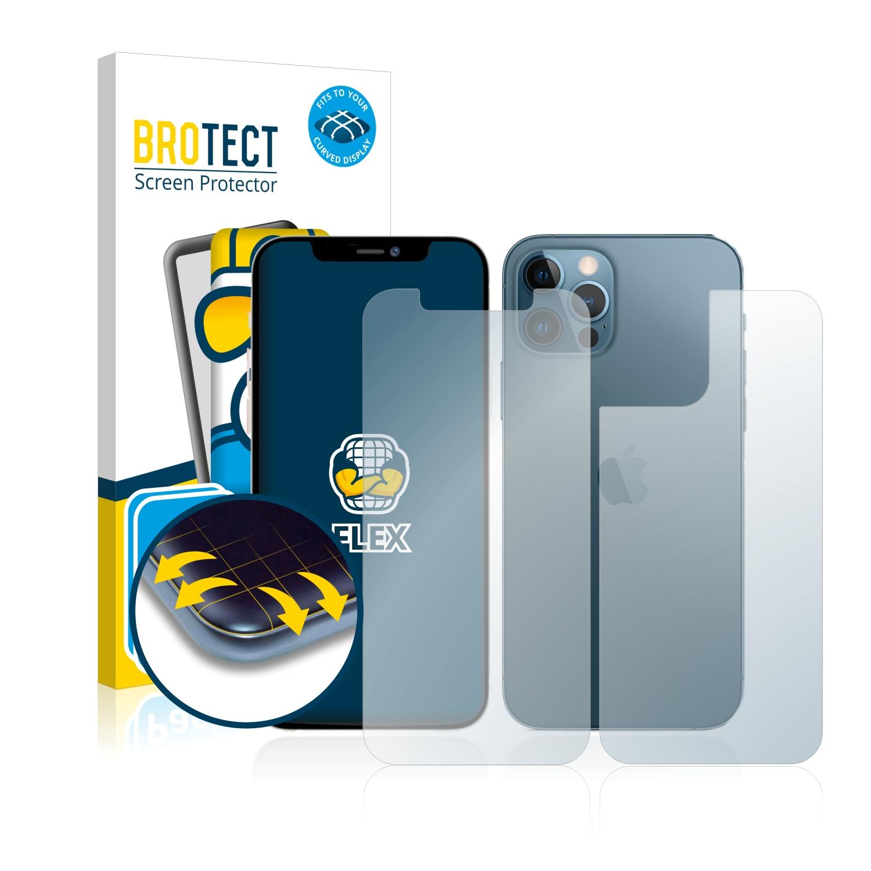 2x BROTECT Flex Full-Cover čirá ochranná fólie pro Apple iPhone 12 Pro (přední + zadní strana)