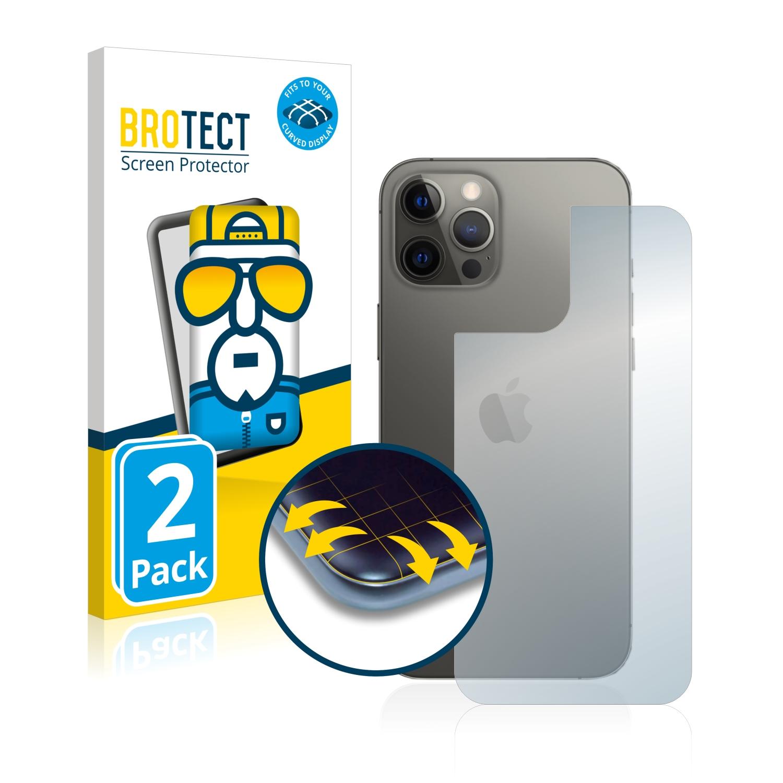 2x BROTECT Flex Full-Cover čirá ochranná fólie pro Apple iPhone 12 Pro Max (zadní strana)
