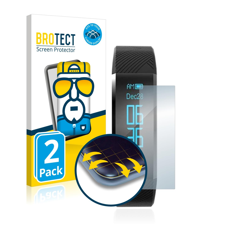 2x BROTECT Flex Full-Cover čirá ochranná fólie pro AGPtek FT01