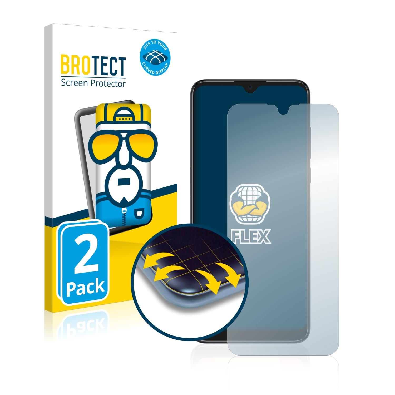 2x BROTECT Flex Full-Cover čirá ochranná fólie pro Alcatel 3L 2021