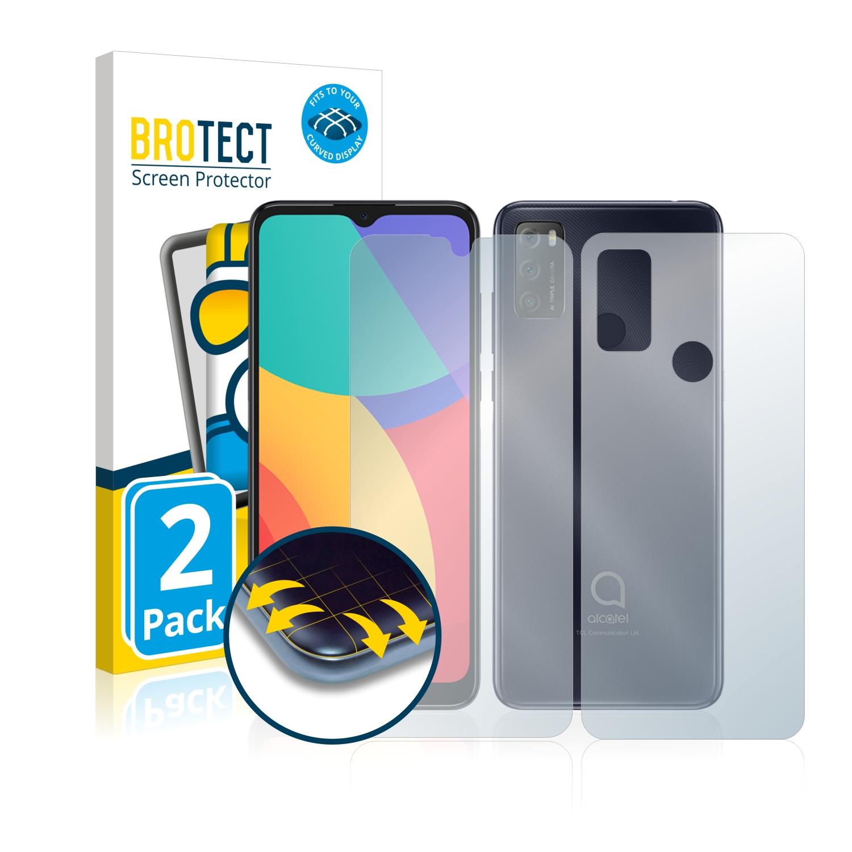 2x BROTECT Flex Full-Cover čirá ochranná fólie pro Alcatel 1S 2021 (přední + zadní strana)