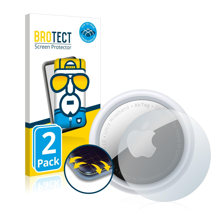 2x BROTECT Flex Full-Cover čirá ochranná fólie pro Apple AirTag