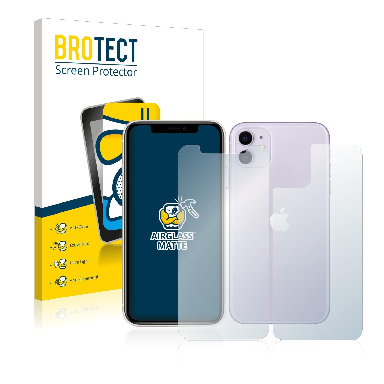 Airglass matné ochranné sklo pro Apple iPhone 11 (Přední + Zadní strana)