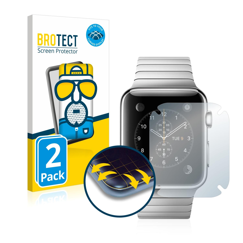 2x BROTECT Flex  Full-Cover matná ochranná fólie pro Apple Watch 2014 (42 mm)