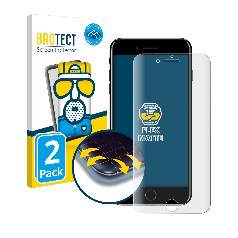 2x BROTECT Flex  Full-Cover matná ochranná fólie pro Apple iPhone 7 Plus