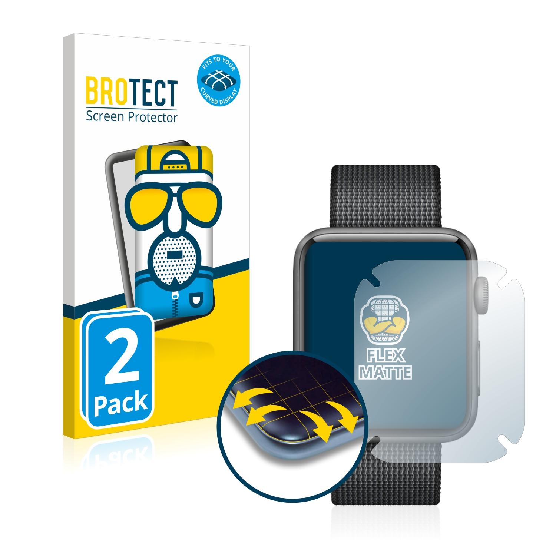 2x BROTECT Flex  Full-Cover matná ochranná fólie pro Apple Watch Series 2 (42 mm)