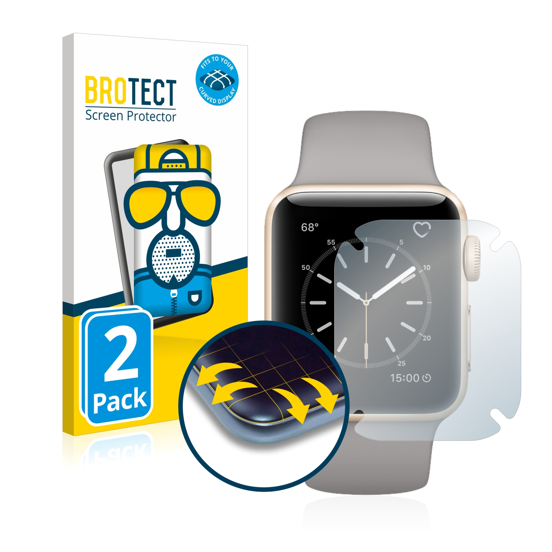 2x BROTECT Flex  Full-Cover matná ochranná fólie pro Apple Watch Series 2 (38 mm)