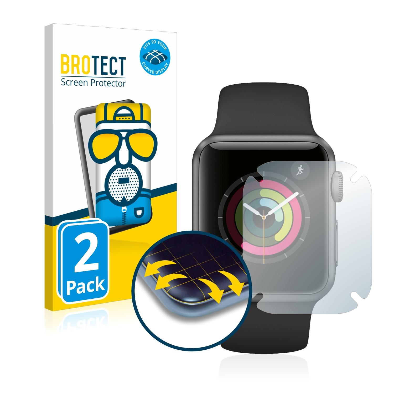 2x BROTECT Flex  Full-Cover matná ochranná fólie pro Apple Watch Series 1 (38 mm)