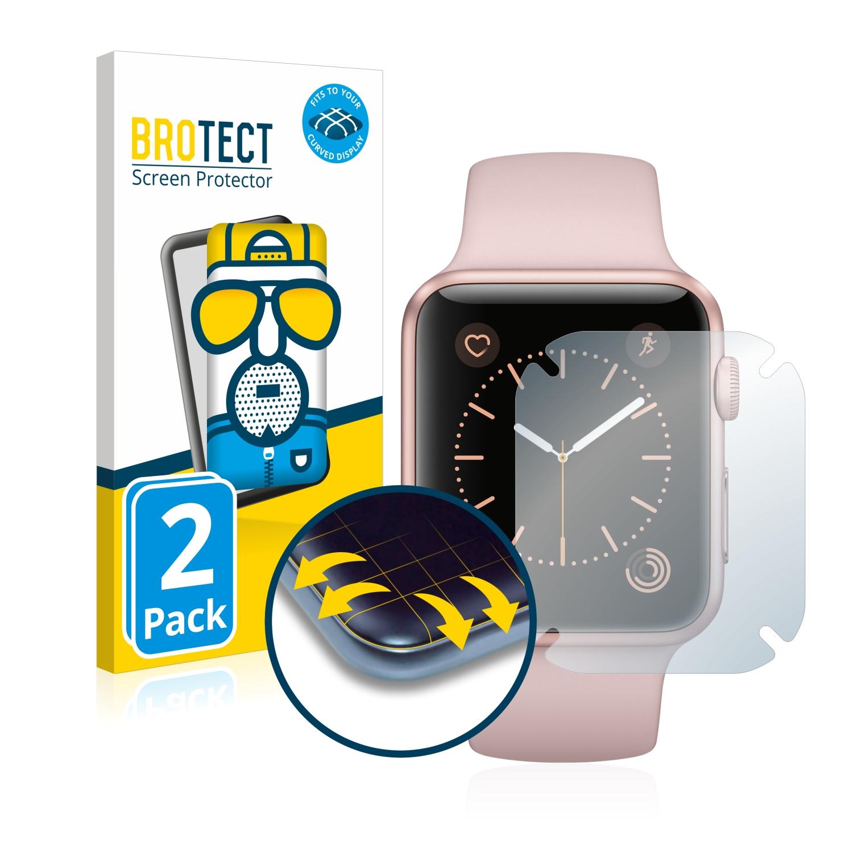 2x BROTECT Flex  Full-Cover matná ochranná fólie pro Apple Watch Series 1 (42 mm)