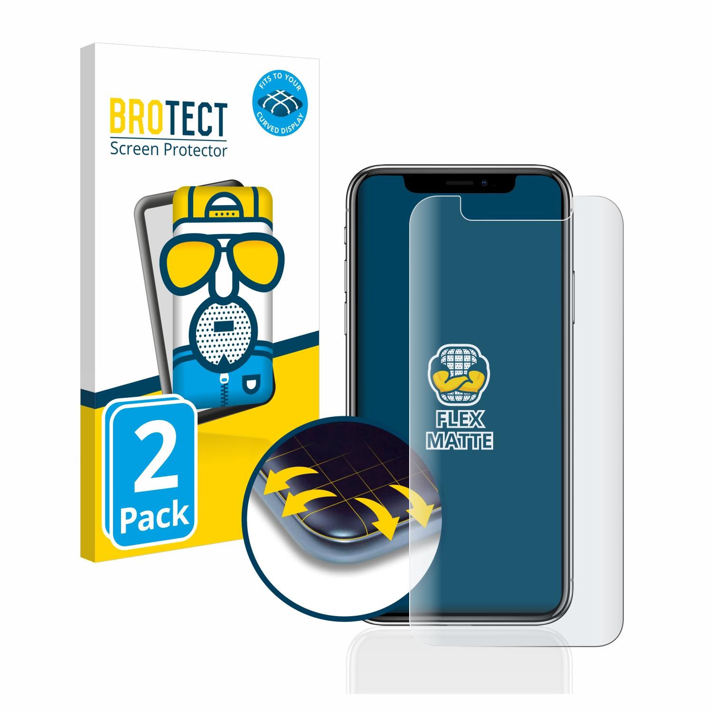 2x BROTECT Flex  Full-Cover matná ochranná fólie pro Apple iPhone X
