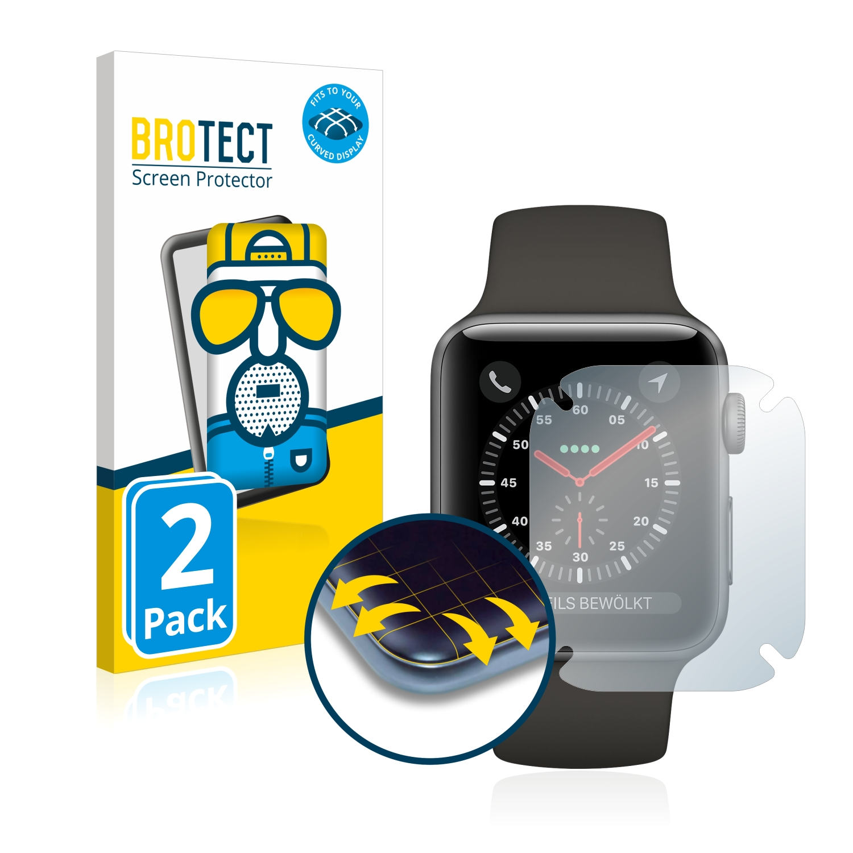 2x BROTECT Flex  Full-Cover matná ochranná fólie pro Apple Watch Series 3 (38 mm)