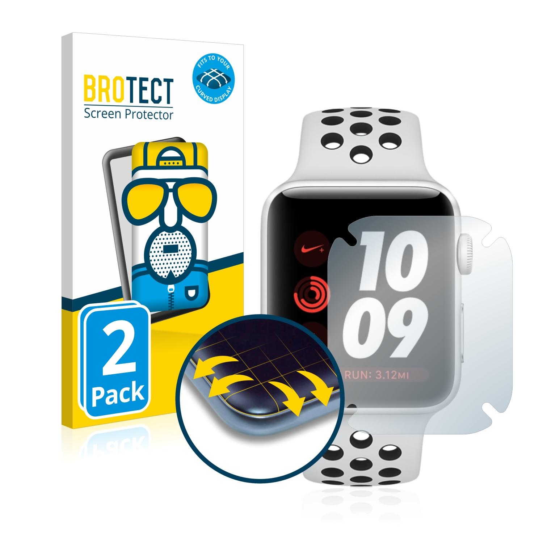 2x BROTECT Flex  Full-Cover matná ochranná fólie pro Apple Watch Nike Plus Series 3 (38 mm)