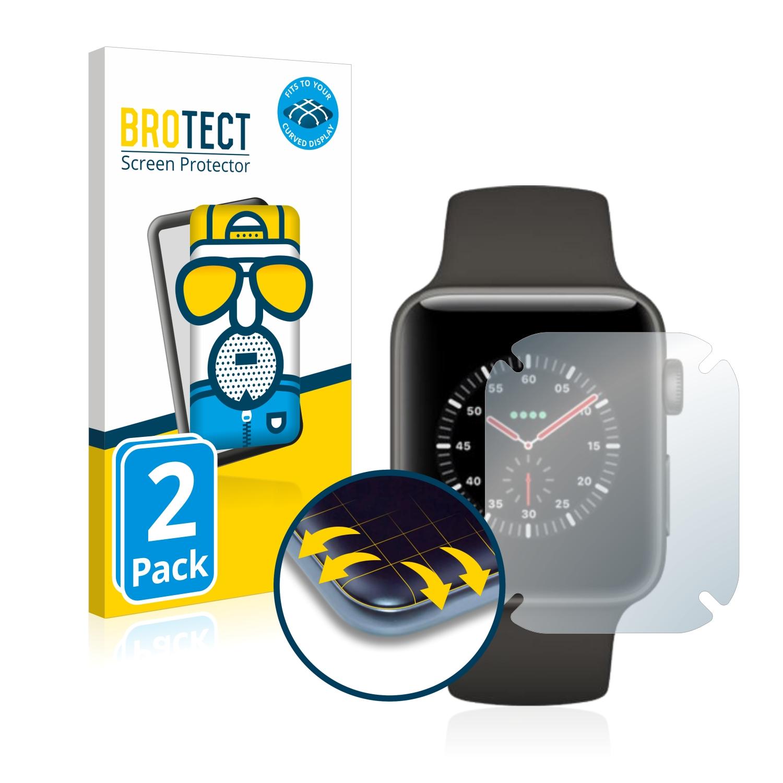 2x BROTECT Flex  Full-Cover matná ochranná fólie pro Apple Watch Edition Series 3 (42 mm)