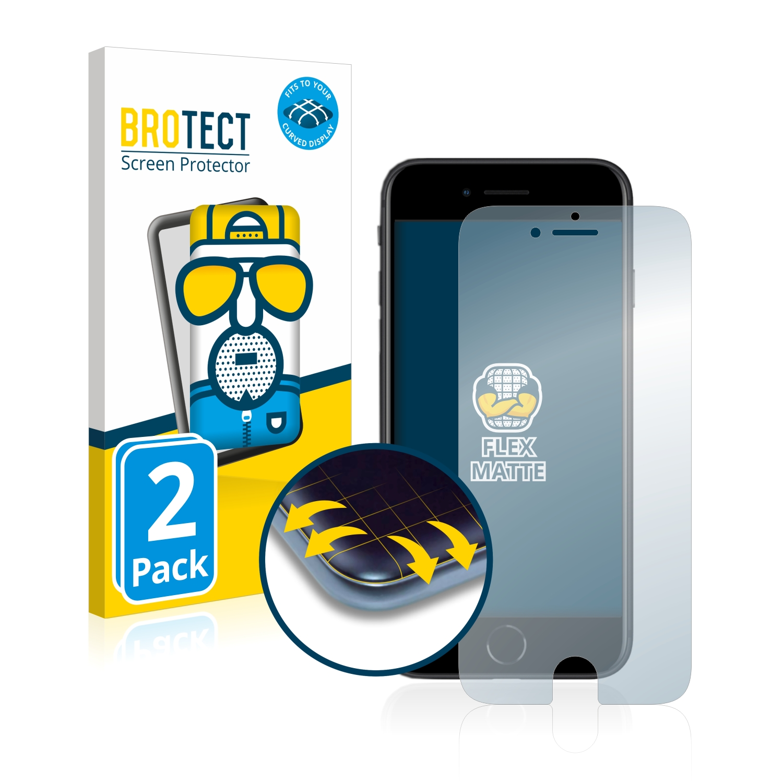 2x BROTECT Flex  Full-Cover matná ochranná fólie pro Apple iPhone SE 2 2020