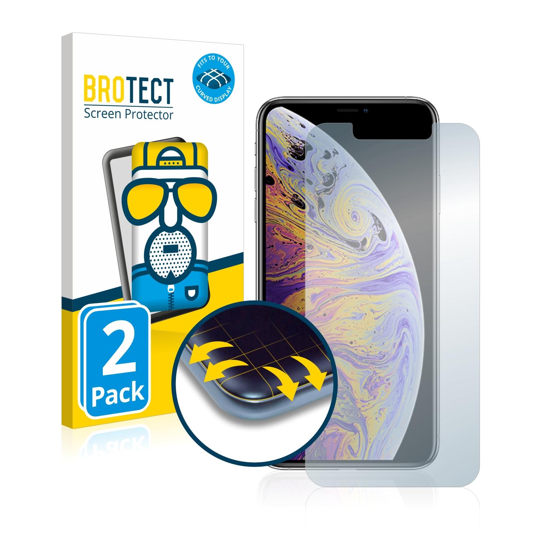 2x BROTECT Flex  Full-Cover matná ochranná fólie pro Apple iPhone Xs Max