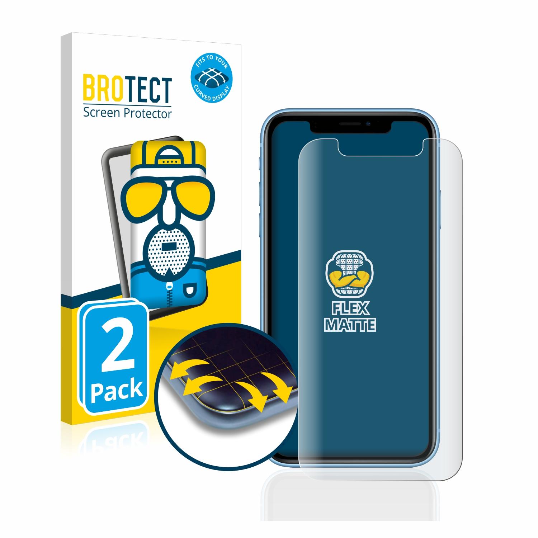2x BROTECT Flex  Full-Cover matná ochranná fólie pro Apple iPhone XR