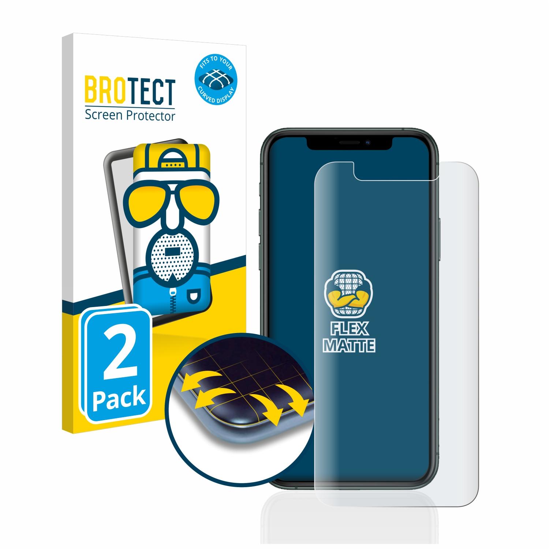 2x BROTECT Flex  Full-Cover matná ochranná fólie pro Apple iPhone 11 Pro