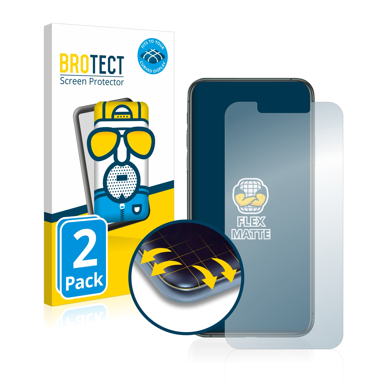 2x BROTECT Flex  Full-Cover matná ochranná fólie pro Apple iPhone 11 Pro Max
