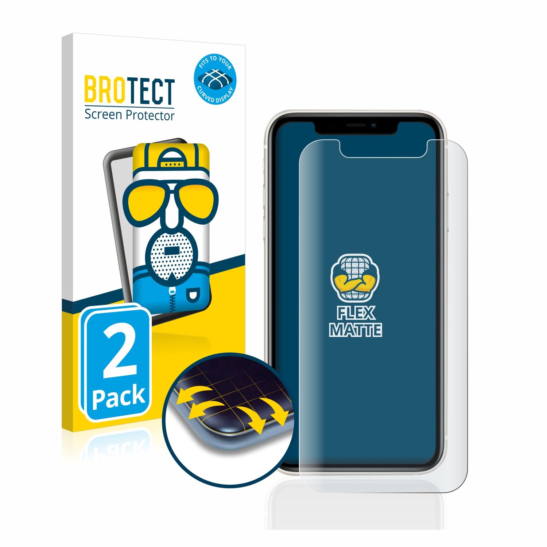 2x BROTECT Flex  Full-Cover matná ochranná fólie pro Apple iPhone 11