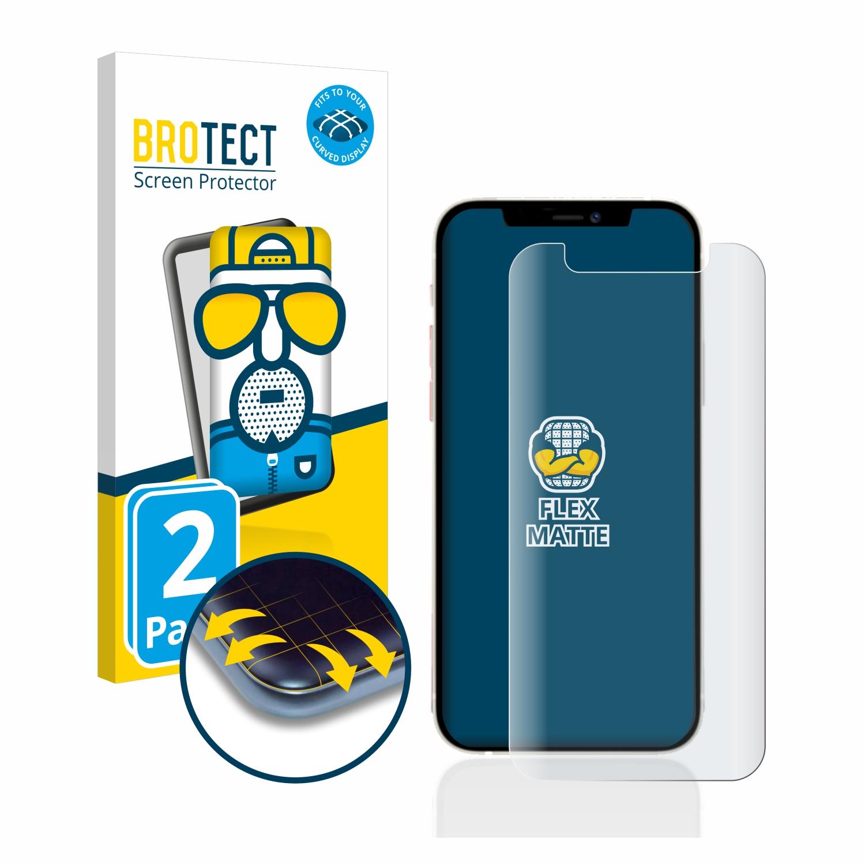 2x BROTECT Flex  Full-Cover matná ochranná fólie pro Apple iPhone 12 mini