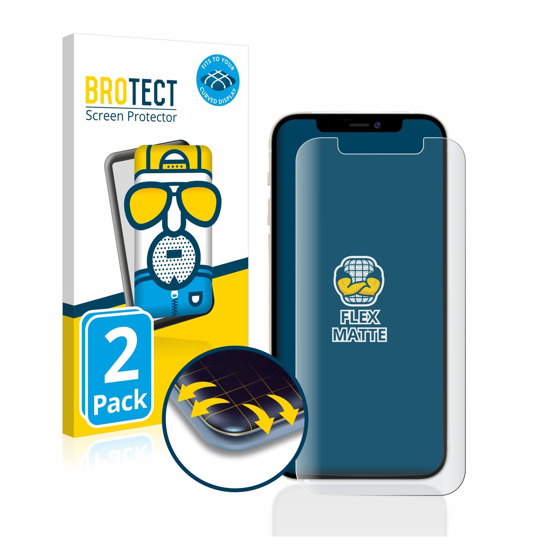 2x BROTECT Flex  Full-Cover matná ochranná fólie pro Apple iPhone 12