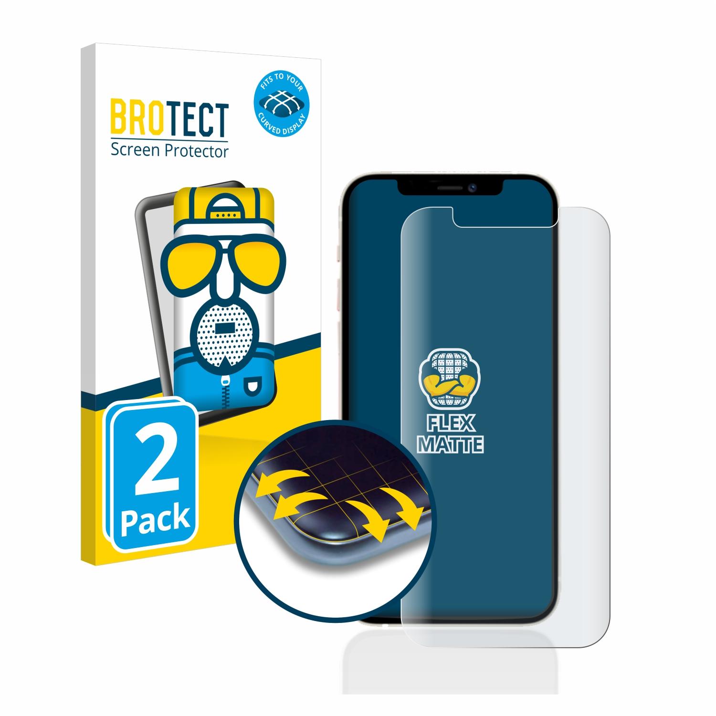 2x BROTECT Flex  Full-Cover matná ochranná fólie pro Apple iPhone 12 Pro