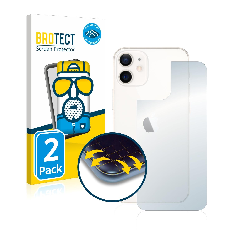 2x BROTECT Flex  Full-Cover matná ochranná fólie pro Apple iPhone 12 mini (zadní strana)