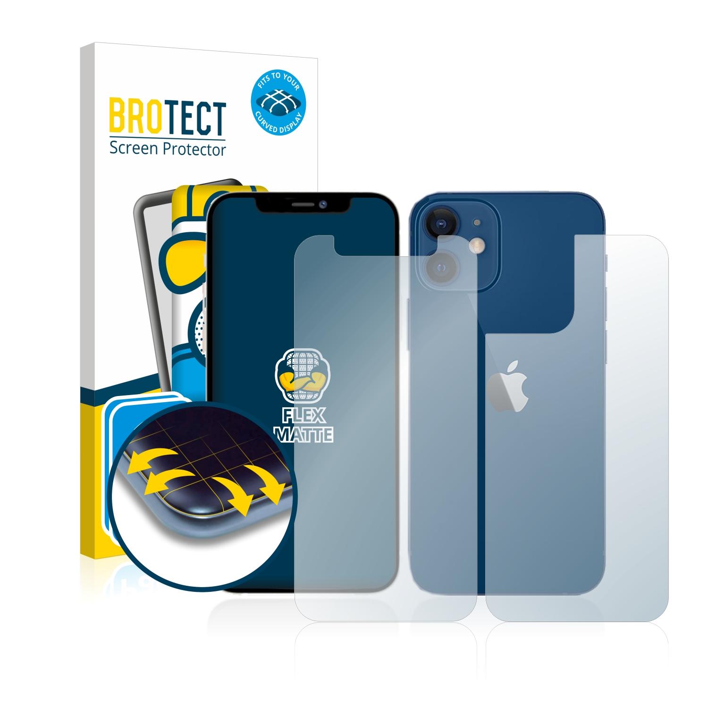 2x BROTECT Flex  Full-Cover matná ochranná fólie pro Apple iPhone 12 mini (přední strana + zadní strana)