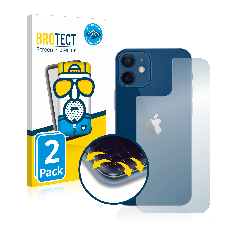 2x BROTECT Flex  Full-Cover matná ochranná fólie pro Apple iPhone 12 (zadní strana)