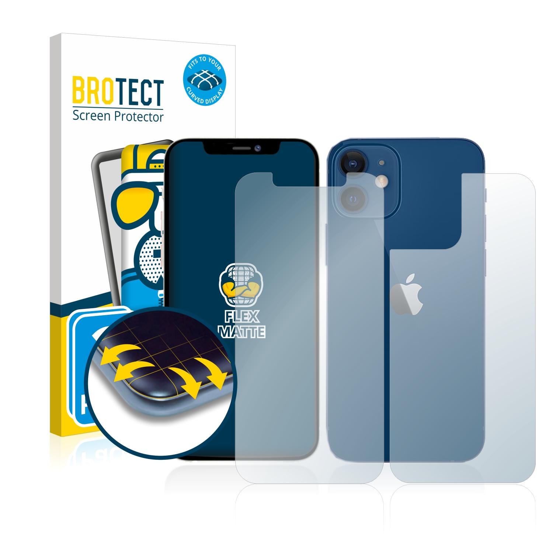 2x BROTECT Flex  Full-Cover matná ochranná fólie pro Apple iPhone 12 (přední strana + zadní strana)