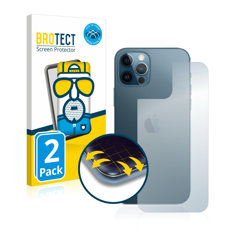 2x BROTECT Flex  Full-Cover matná ochranná fólie pro Apple iPhone 12 Pro (zadní strana)