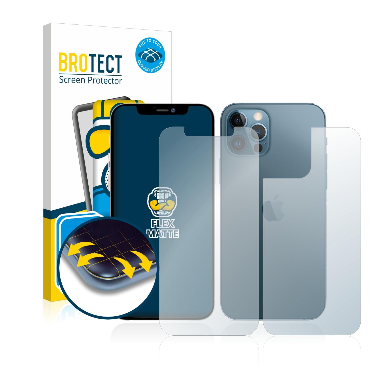 2x BROTECT Flex  Full-Cover matná ochranná fólie pro Apple iPhone 12 Pro (přední strana + zadní strana)