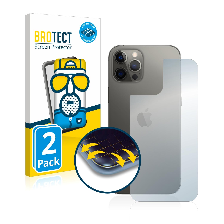 2x BROTECT Flex  Full-Cover matná ochranná fólie pro Apple iPhone 12 Pro Max (zadní strana)