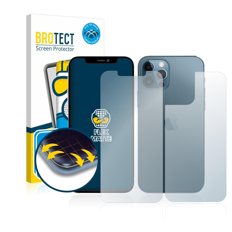 2x BROTECT Flex  Full-Cover matná ochranná fólie pro Apple iPhone 12 Pro Max (přední strana + zadní strana)
