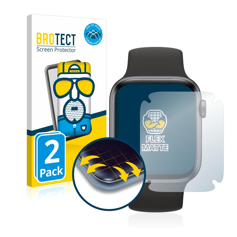 2x BROTECT Flex  Full-Cover matná ochranná fólie pro Apple Watch SE (44 mm)