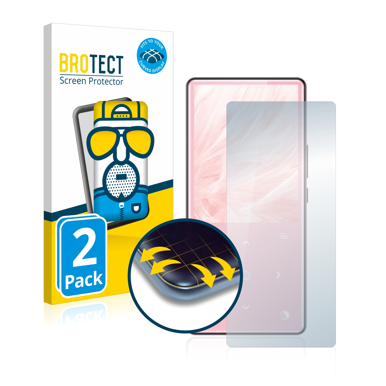 2x BROTECT Flex  Full-Cover matná ochranná fólie pro AGPtek MH9SP
